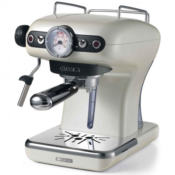 Рожковая кофеварка Ariete Classica 1389/17, жемчужный