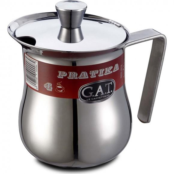 Кофейник G.A.T. Pratika 112004 (0,45 л) 9 чашек, нержавеющая сталь