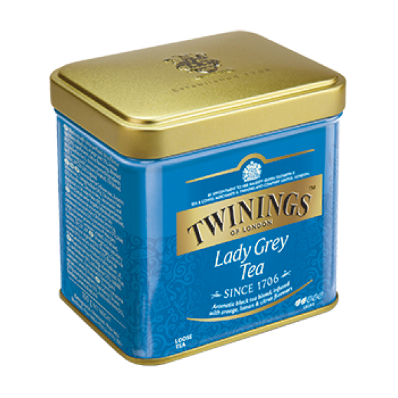 Чай Twinings Lady Grey (листовой) 100г, ж.б