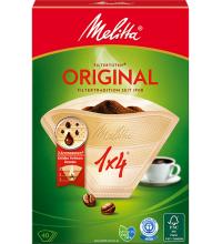 Оригинальные бумажные фильтры Melitta Original, 1х4, 40шт, коричневые купить в интернет-магазине с доставкой