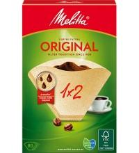 Оригинальные бумажные фильтры Melitta Original, 1х2, 80шт, коричневые купить в интернет-магазине с доставкой