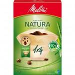 Оригинальные бумажные фильтры Melitta Natura, 1х4, 80шт, коричневые