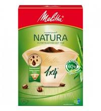 Оригинальные бумажные фильтры Melitta Natura, 1х4, 80шт, коричневые купить в интернет-магазине с доставкой