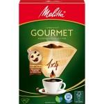 Оригинальные бумажные фильтры Melitta Gourmet, 1х4, 80шт, коричневые