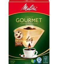 Оригинальные бумажные фильтры Melitta Gourmet, 1х4, 80шт, коричневые купить в интернет-магазине с доставкой