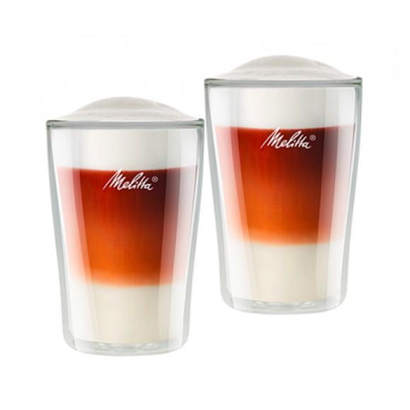 Бокалы Melitta с двойным стеклом для латте макиато