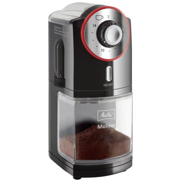 Кофемолка Melitta Molino, черно-красная