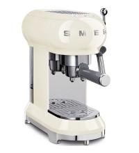 Рожковая кофеварка SmegECF01WHEU, кремовая купить в интернет-магазине с доставкой
