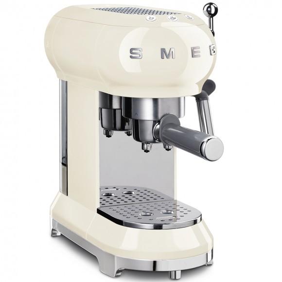 Рожковая кофеварка SmegECF01WHEU, кремовая
